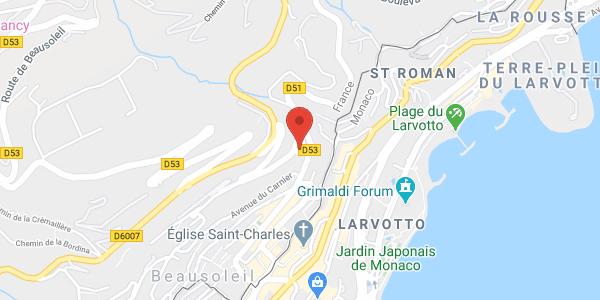 location studio centre MONACO Beausoleil 130 m à pied du centre de Monaco