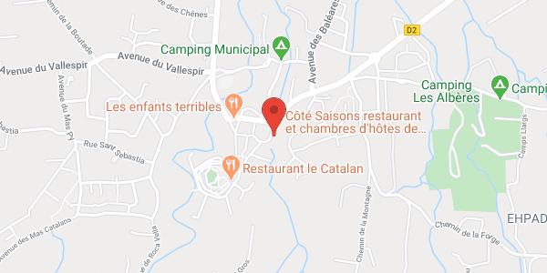 Côté Saisons chambres d'hôtes de charme avec restaurant bib Michelin proche collioure